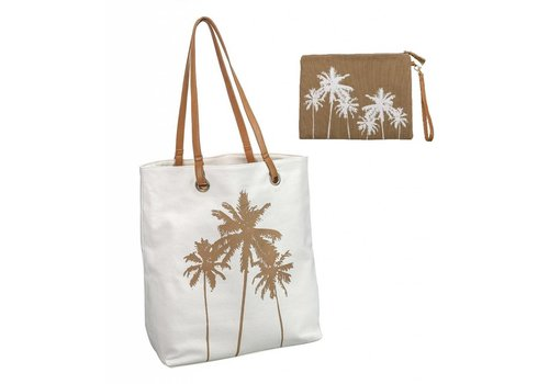 Cabo Palm Tree Tote & Bikini Bag Combo