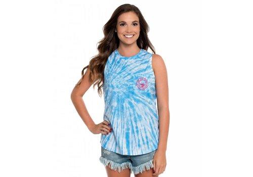 Southern Shirt Salt Washed Tie Dye Tank Little Boy Blue 387