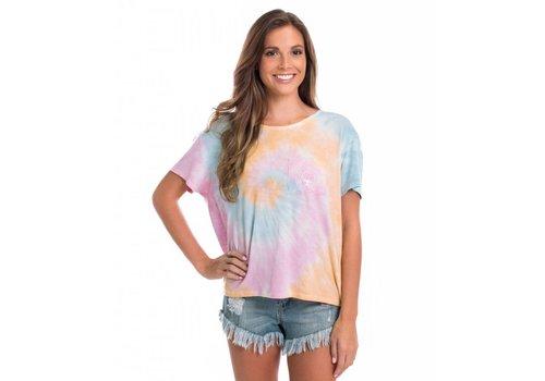 Southern Shirt Tie Dye Boxy Tee SS Tropical Twist 398