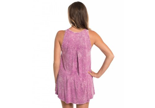 Southern Shirt Salt Washed Flowy Tank Mulberry 530