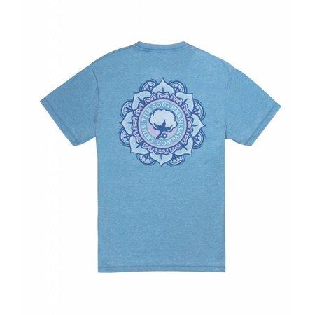 Vintage Burnout Tee SS Azure Blue 180