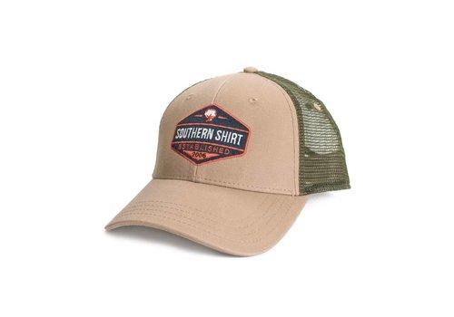 Southern Shirt Trademark Badge Mesh Hat Khaki/ Surplus 511