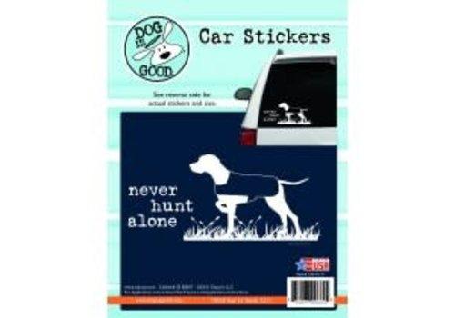Enjoy It Never Hunt Alone Sticker