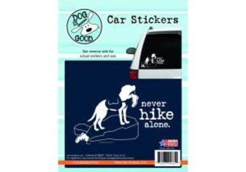 Enjoy It Never Hike Alone Sticker