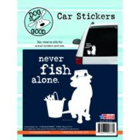 Never Fish Alone Sticker