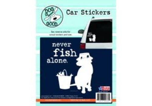 Enjoy It Never Fish Alone Sticker