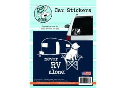 Enjoy It Never RV Alone Sticker