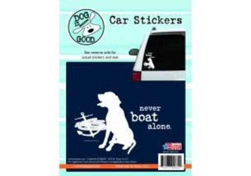 Enjoy It Never Boat Alone Sticker