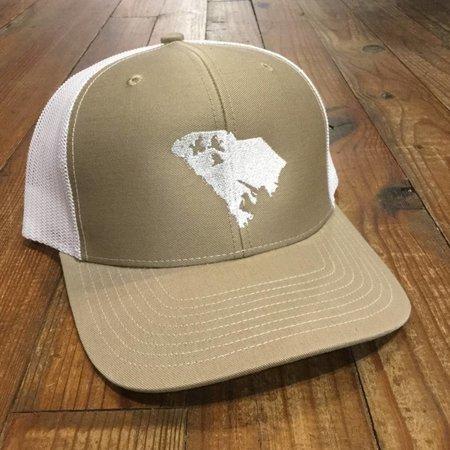 Duck Hunt SC Hat Tan White