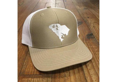 Image Designs Duck Hunt SC Hat Tan White