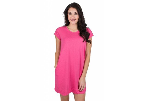 Lauren James Hailey Dress Raspberry