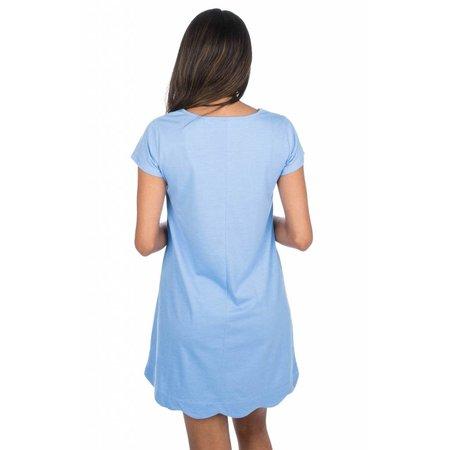 Hailey Dress Delta Blue