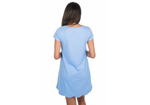 Lauren James Hailey Dress Delta Blue