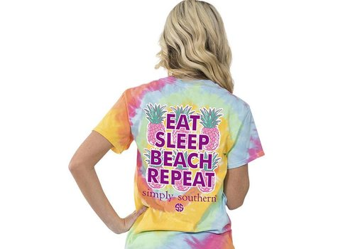 Simply Southern Simply Southern Eat Sleep Beach Repeat T-shirt