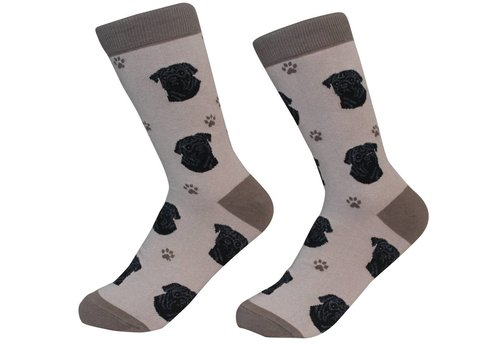 ES Pets Pug Black Socks