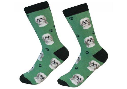 ES Pets Shih Tzu Tan Socks