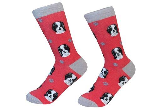 ES Pets Shih Tzu Black Socks