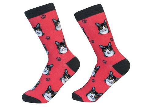 ES Pets Black And White Cat Socks