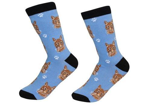 ES Pets Silver Tabby Cat Socks