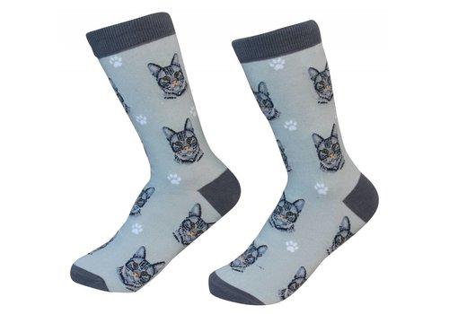 ES Pets Orange Tabby Cat Socks