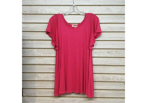 Corner Clothing Butterfly Sleeves Tunic Fuschia
