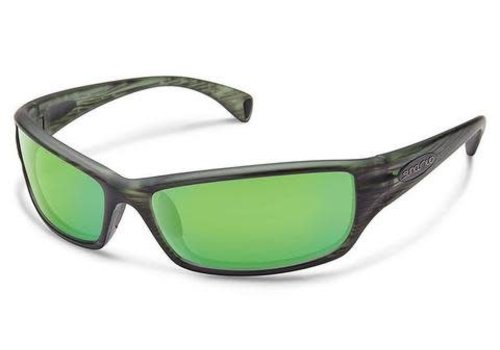 Suncloud Optics Suncloud Tribute - Matte Green Stripe/Green Mirror Polycarbonate