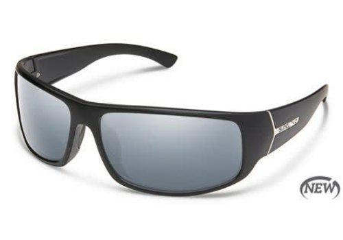 Suncloud Optics Suncloud Turbine - Matte Black/Polarized Polycarbonate Silver Mirror