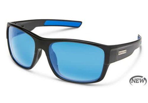 Suncloud Optics Suncloud Range Sunglass - Black/Polarized Polycarbonate Blue Mirror