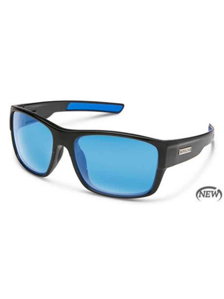 68ed83fa5a Suncloud Optics Range Sunglass - Black Polarized Polycarbonate Blue Mirror  - Papa s General Store