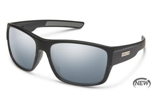 Suncloud Optics Suncloud Range Sunglass - Matte Black/Polarized Polycarbonate Silver Mirror