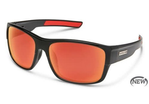 Suncloud Optics Suncloud Range Sunglass - Black/Polarized Polycarbonate Red Mirror