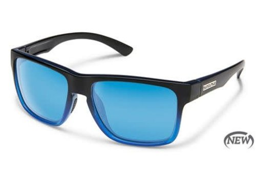 Suncloud Optics Suncloud Rambler - Black Blue/Polarized Polycarbonate Blue Mirror