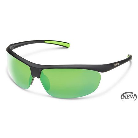 3ff334b9693 Suncloud Zephyr - Matte Black Polarized Polycarbonate Green Mirror · Suncloud  Optics ...