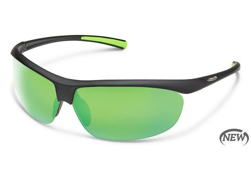 Suncloud Optics Suncloud Zephyr - Matte Black/Polarized Polycarbonate Green Mirror