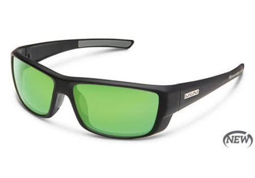 Suncloud Optics Suncloud Lock - Matte Black/Polarized Polycarbonate Green Mirror