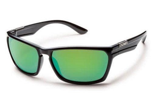 Suncloud Optics Suncloud Cutout - Black/Green Mirror Polarized Polycarbonate