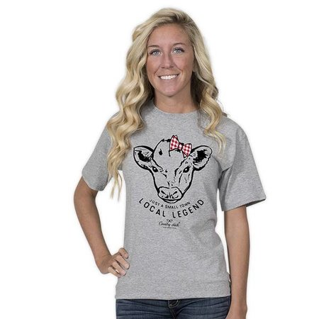 Country Chick Cow Just a Local Legend T-shirt