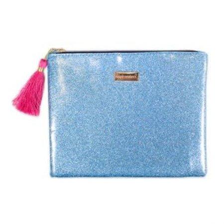 Glitter Tourquoise Brush Bag