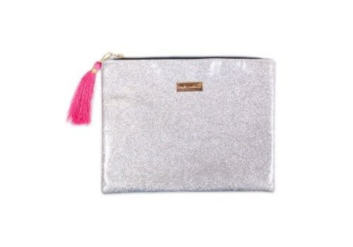 Simply Southern Simply Southern Glitter Silver Brush Bag