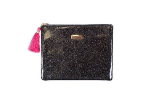 Simply Southern Simply Southern Glitter Black Brush Bag
