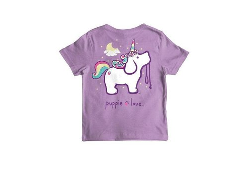 Puppie Love Puppie Love Unicorn Pup SS Purple YOUTH