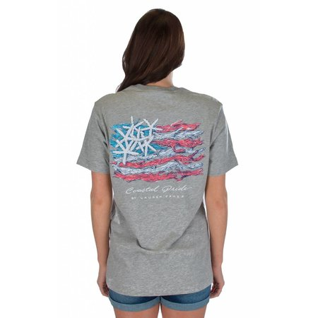 Coastal Pride Heather Grey Short Sleeve