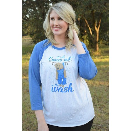 All Comes Out in Wash Raglan Long Sleeve T-Shirt