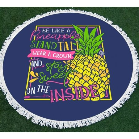 Girlie Girl Round Beach Towel Sweet Pineapple