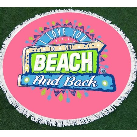 Girlie Girl Round Beach Towel Beach & Back Pink