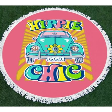 Girlie Girl Round Beach Towel Hippie Chic