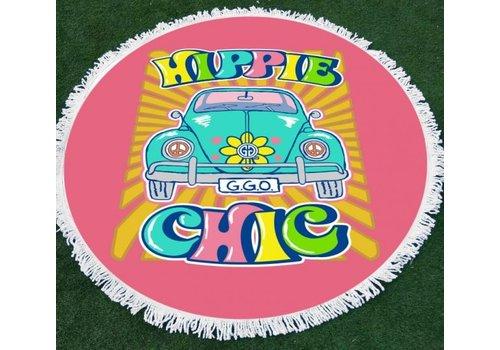 Girlie Girl Girlie Girl Round Beach Towel Hippie Chic