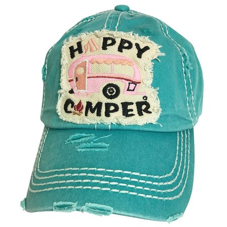 Happy Camper Torn Hat