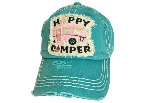Girlie Girl Girlie Girl Happy Camper Torn Hat