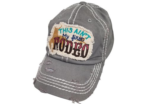 Girlie Girl Girlie Girl Ain't First Rodeo Torn Hat